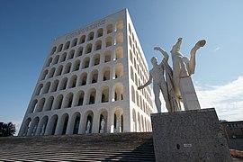 Square Colosseum EUR district Rome