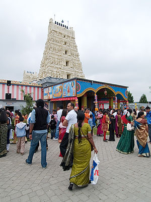 Sri Lankan diaspora - Sri Kamadchi Ampal temple in Hamm, Germany