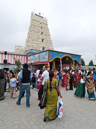 Sri Lankan Tamil diaspora - Sri Kamadchi Ampal temple in Hamm, Germany
