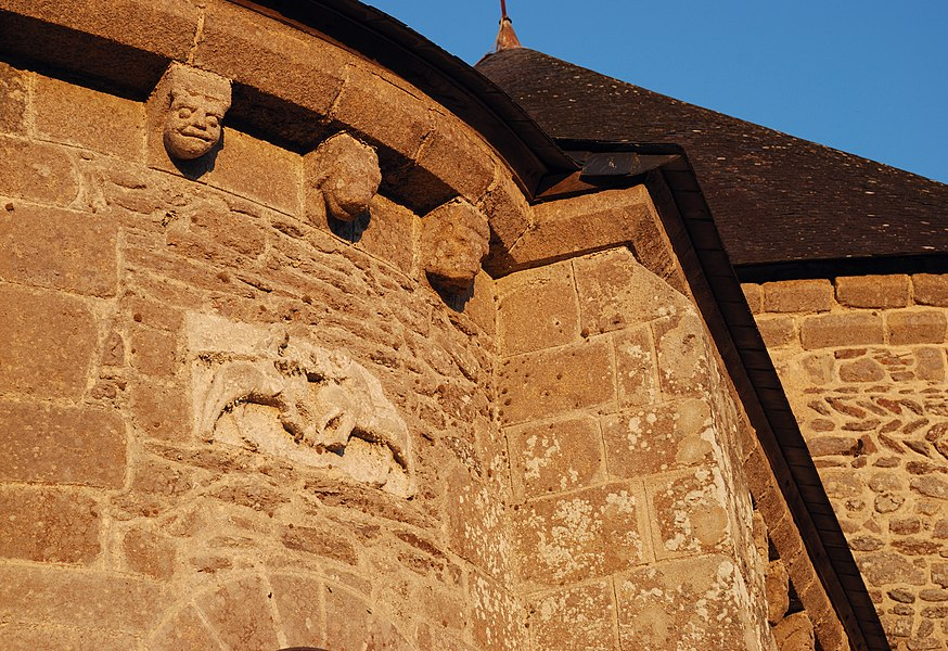 Saint-Gildas-de-Rhuys: corbels of the abbey-church  (Morbihan, France)