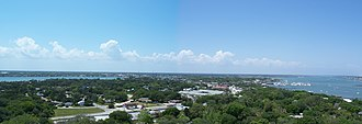 St. Augustine, Florida - View of St. Augustine from the top of the lighthouse on Anastasia Island