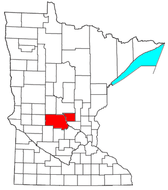 St. Cloud, Minnesota metropolitan area - Location of the St. Cloud Metropolitan Statistical Area in Minnesota