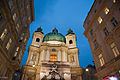 St. Peter's Church at night time. Vienna, Austria, Western Europe.jpg