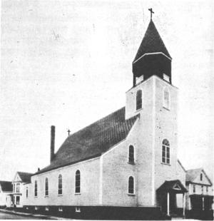 St. Stanislaus Parish, Nashua - Image: St. Stanislaus, Nashua, exterior 1933