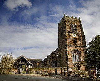 St Mary and All Saints Church, Great Budworth Church in Cheshire, England