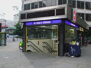 St. Paul's tube station - Western entrance to St. Paul's (2009)