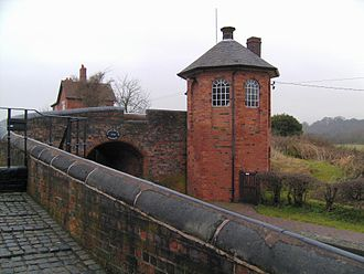 Toll houses of the United Kingdom - Toll house at the Bratch Locks, Wombourne, on the Staffordshire and Worcestershire Canal, circa 1772.