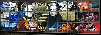 McGill station - The images of Montreal's first two mayors, Jacques Viger and Peter McGill, in stained glass. The image of Peter McGill is sometimes mistakenly believed to be James McGill, the founder of the nearby university