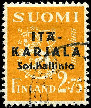 Postage stamps and postal history of Karelia - A 2.75 markka stamp of 1941
