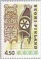 Stamp of Finland - 1988 - Colnect 414233 - Distaff wood carving - perf 14.jpeg