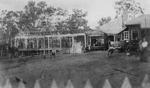 Tabragalba, Queensland - Extension construction at Wyambyn station, 1910