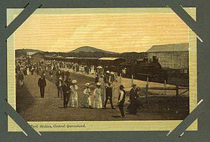 Emu Park, Queensland - Passengers at the Emu Park Railway Station