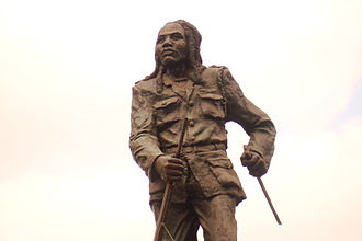 Kenya - A statue of Dedan Kimathi, a Kenyan rebel leader with the Mau Mau who fought against the British colonial system in the 1950s.