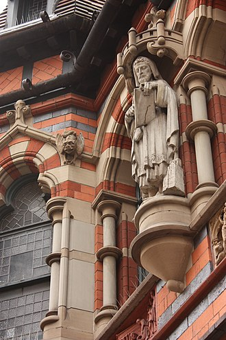 Watson Fothergill's offices - Image: Statue on the frontage of Watson Fothergills offices