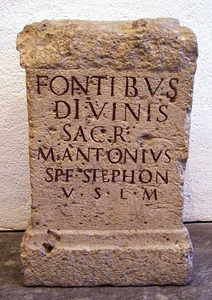 Fontus - Votive altar dedicated to the Divine Fontes (plural)