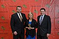 Steve Douglas , Susannah Frame and Russ Walker at the 73rd Annual Peabody Awards.jpg