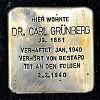 Stolperstein Gutleutstraße 85 Grünberg Dr. Carl
