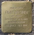 Stolperstein Perleberger Str 33 (Moabi) Fanny Brenner.jpg
