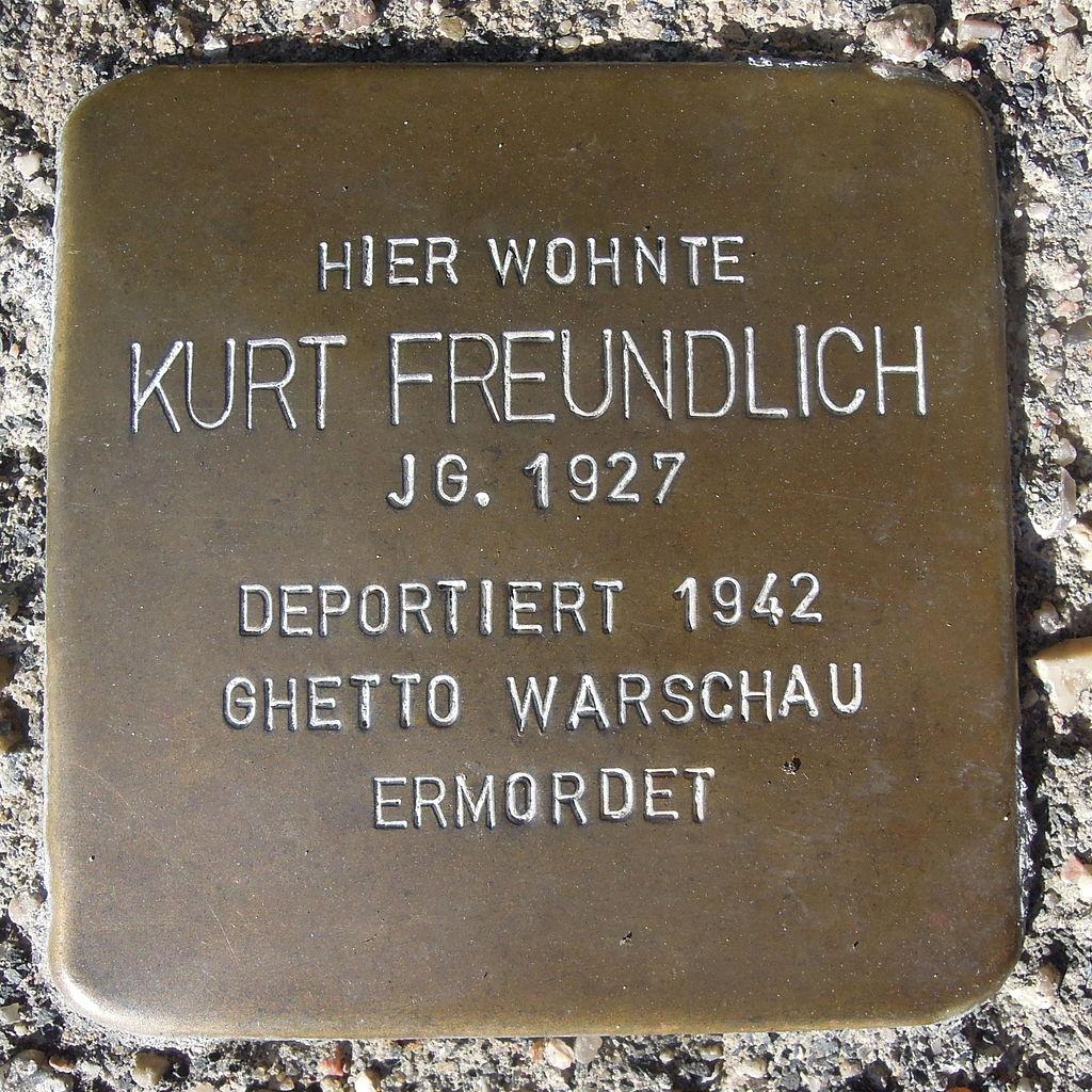 Stolperstein für Kurt Freundlich