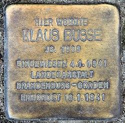 Photo of Klaus Busse brass plaque