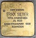 Stolperstein für Erika Silber 2018 (Graz).jpg