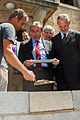 Strasbourg Robertsau villa Kaysersguet première pierre «Lieu d'Europe» 13 juin 2013.jpg