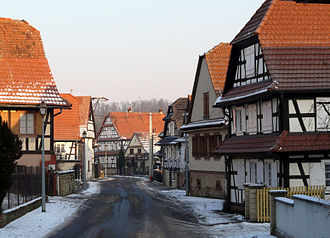 Ingolsheim - Street in Ingolsheim