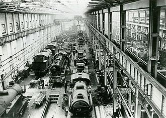 Stratford, London - Engine repair shop of the Stratford Railway Works, 1921