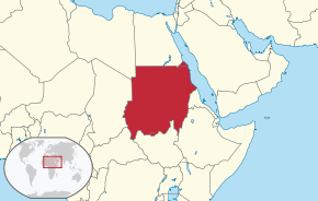 Location of Sudan
