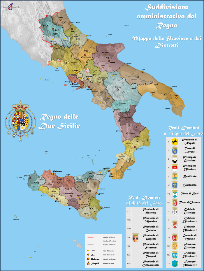 Departments and Districts of Kingdom of the Two Sicilies Suddivisione amministrativa del Regno delle Due Sicilie.png