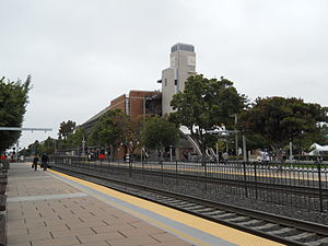 Sunnyvale station - The station from the northbound platform