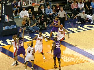 Leandro Barbosa - Barbosa shoots the ball during a game against the Golden State Warriors on March 15, 2009.