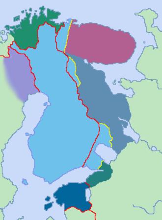 Greater Finland - Image: Suur Suomen kartta