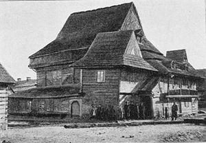 Zabłudów - Wooden Synagogue of Zabłudów in 1895