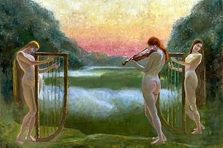 Three nymphs at the lake - the concert.