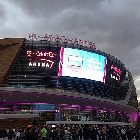 T-Mobile Arena, future home of the Vegas Golden Knights NHL team