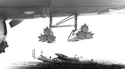 T30 triple launcher for 4.5 in (114 mm) rockets, which were also carried by P-47s. - Douglas A-20 Havoc