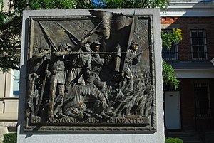 Somerset County Courthouse (Pennsylvania) - Image: TAG 142 Pennsylvania Volunteer Infantry Bronze