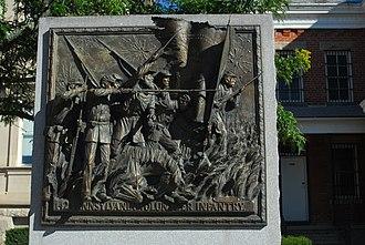 Somerset County Courthouse (Pennsylvania) - Image: TAG 142 Pennsylvania Volunteer Infantry Bronze