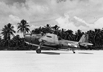 No. 30 Squadron RNZAF - NZ2510, a 30 Sqn TBF-1C on Espiritu Santo, in 1944.