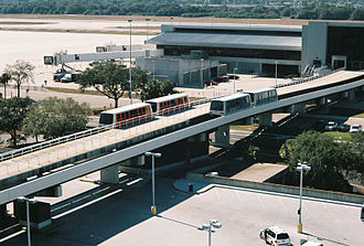 Tampa International Airport - The people mover system (Airside E, right)