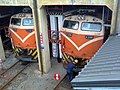 TRA E316 and E330 at Changhua Roundhouse 20100708.jpg