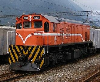EMD G22C Series - Image: TRA R171 at Sincheng Taroko Station 20080917
