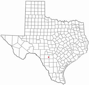 Sabinal, Texas - Image: TX Map doton Sabinal