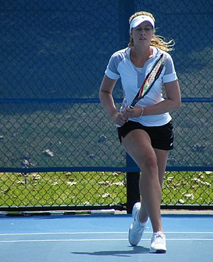 Tyra Calderwood - Calderwood at the 2009 NSW Tennis Open