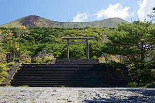 Shinto shrine near Kirishima, Kagoshima Prefecture, Japan