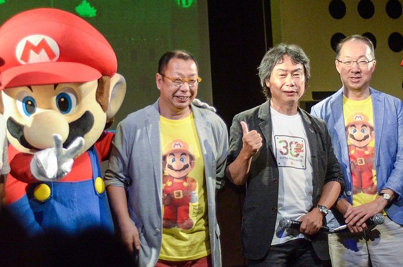 Takashi Tezuka, Shigeru Miyamoto and K%C5%8Dji Kond%C5%8D.jpg