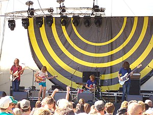Tame Impala - Tame Impala performing at the 2009 V Festival in Perth, Western Australia