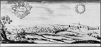 Târgu Mureș - The city of Maros Vásárhely in 1735