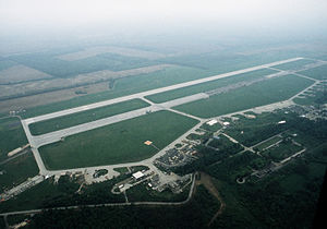 Taszár Air Base - Image: Taszar Air Base aerial view